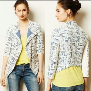 {Anthro} THE ADDISON STORY Indigo Rinse Blazer L